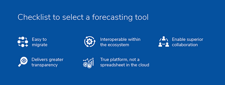 What should healthcare organizations consider while selecting a forecasting tool?
